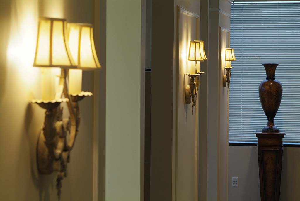 Hallway at Djawdan Center for Implant and Restorative Dentistry in Annapolis, MD.